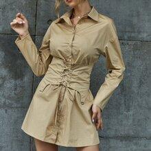 Vestidos Lazada Liso Elegante