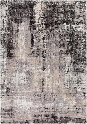 TUS2312-1215 12' x 15' Rug  in Beige and Black and Medium Gray and Ivory and