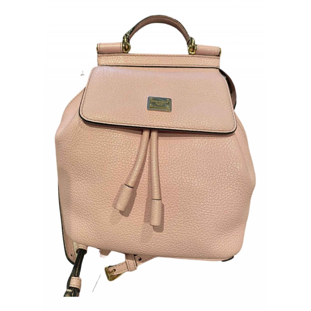 Dolce & Gabbana Sicily Pink Leather backpack for Women \N
