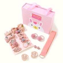 18pcs Toddler Girls Bow Decor Hair Accessory