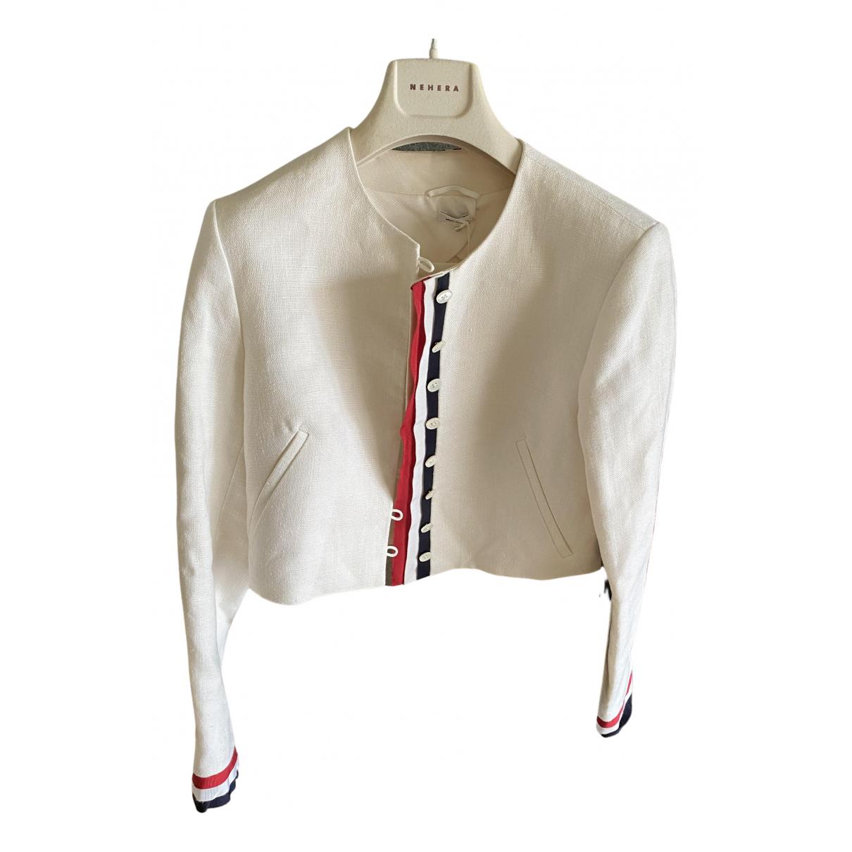 Thom Browne - Veste   pour femme en lin - blanc