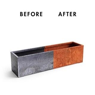 Corten Steel Window Box Planter (Orange - 9