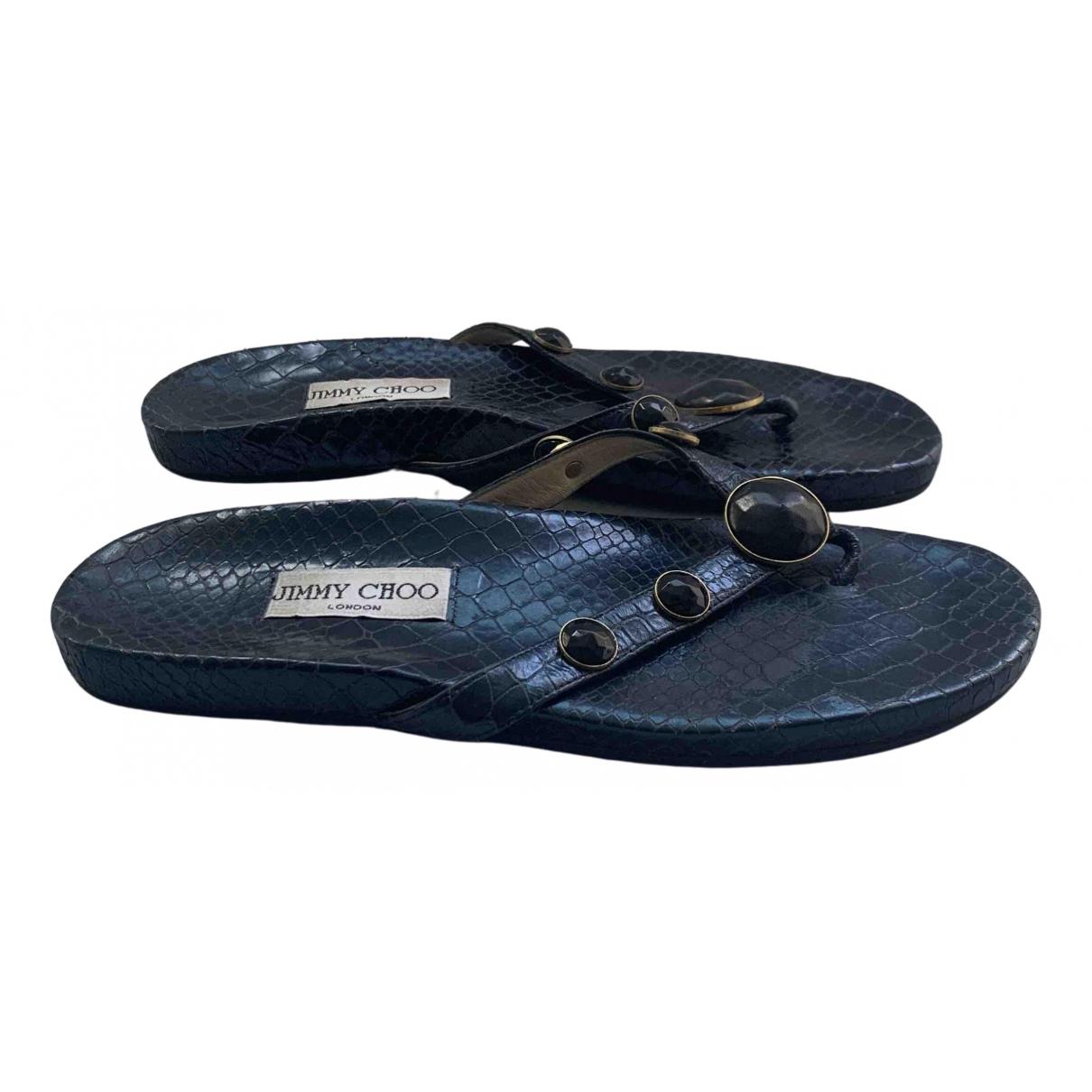 Jimmy Choo \N Sandalen in  Blau Leder