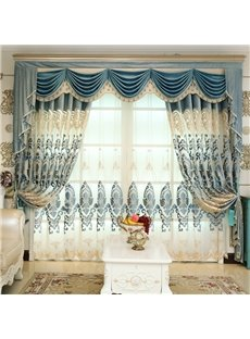 Classic Embroidery Royal Design Sheer Curtain for Living Room