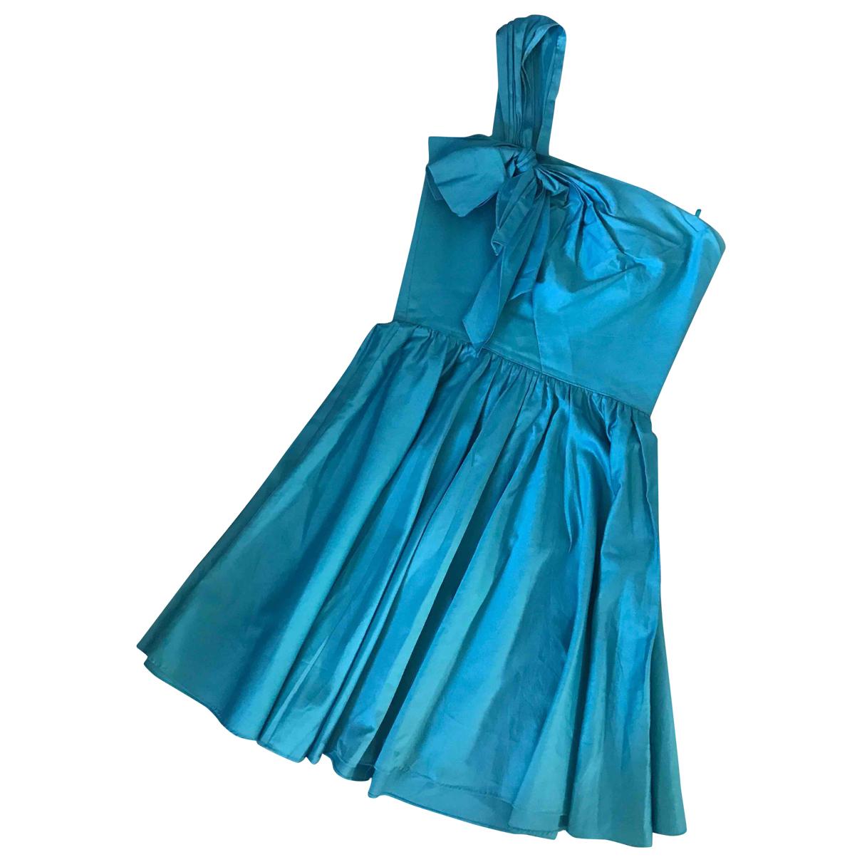 Tara Jarmon \N Blue Cotton dress for Women 38 FR