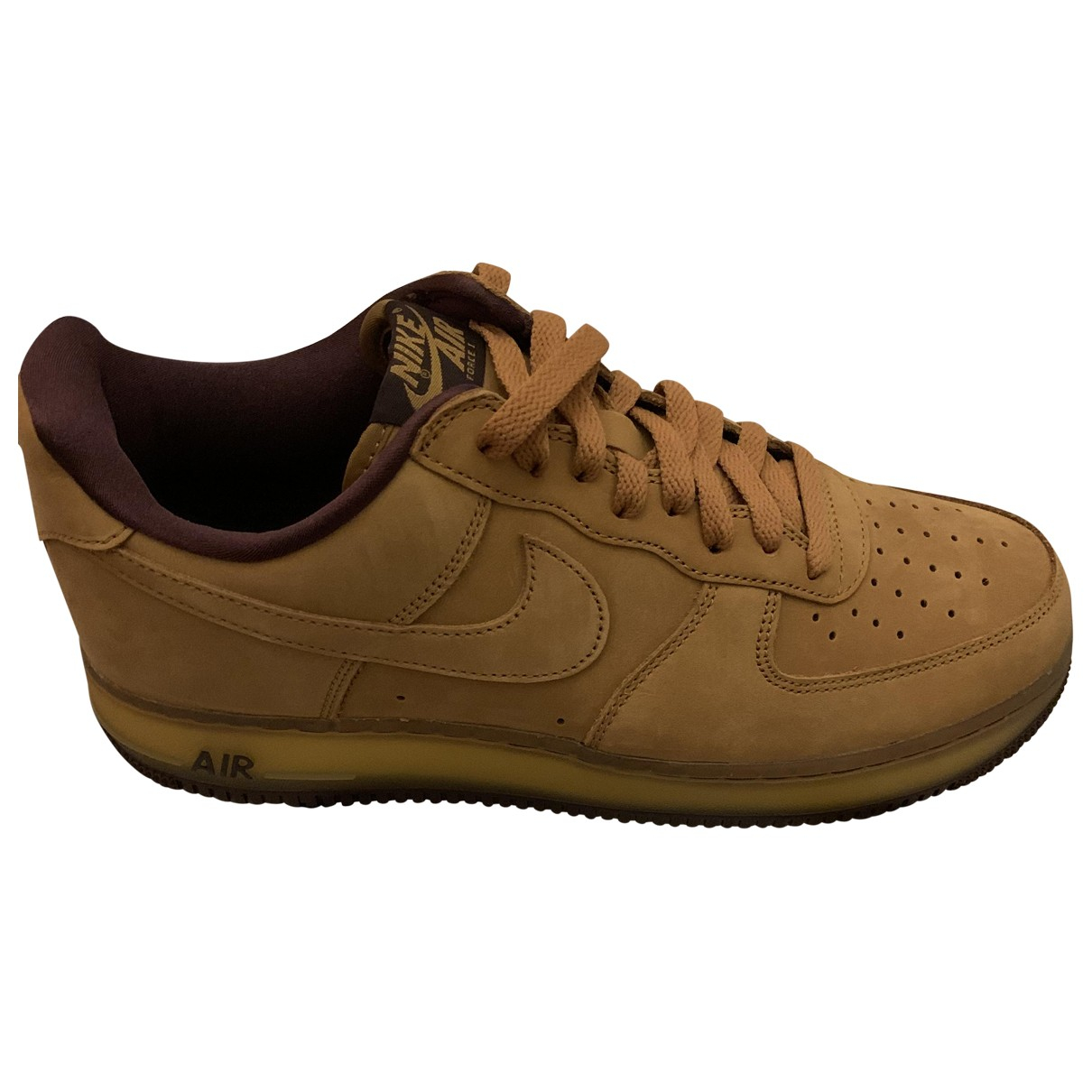 Nike - Baskets Air Force 1 pour homme en suede - beige