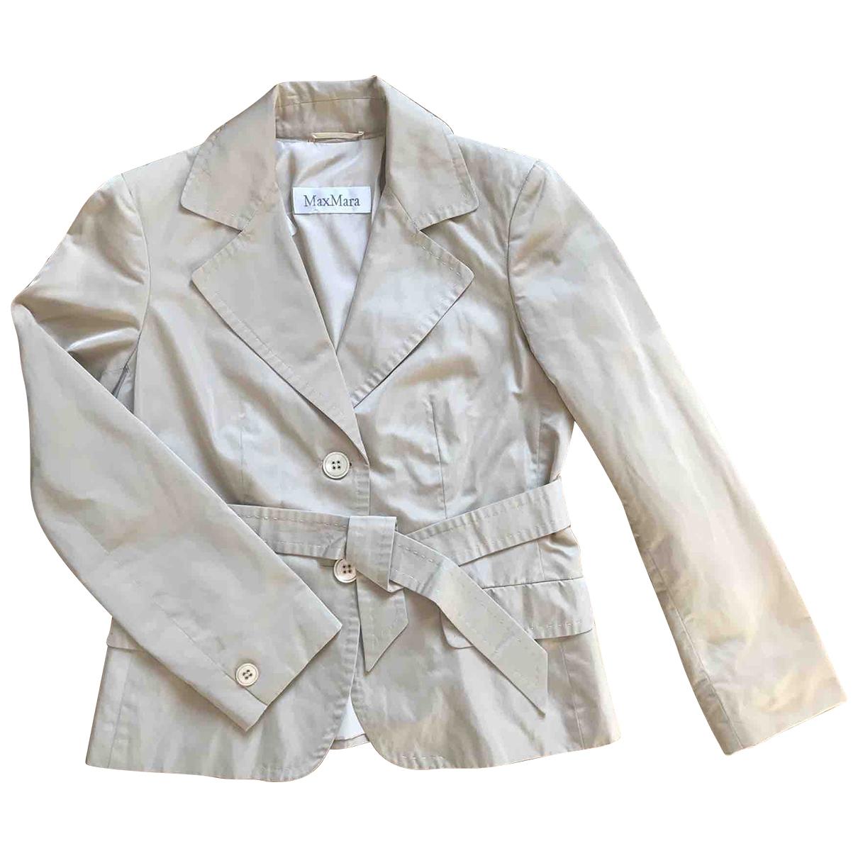 Max Mara \N Beige Silk jacket for Women 42 IT