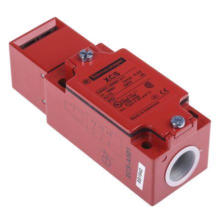 Telemecanique Sensors XCSA Safety Interlock Switch, Zamak, 1NC/2NO