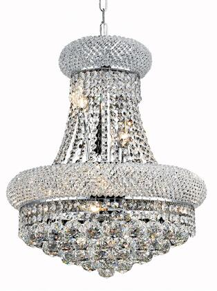V1800D16C/SS 1800 Primo Collection Pendant Ceiling Light D:16In H:20In Lt:8 Chrome Finish (Swarovski   Elements