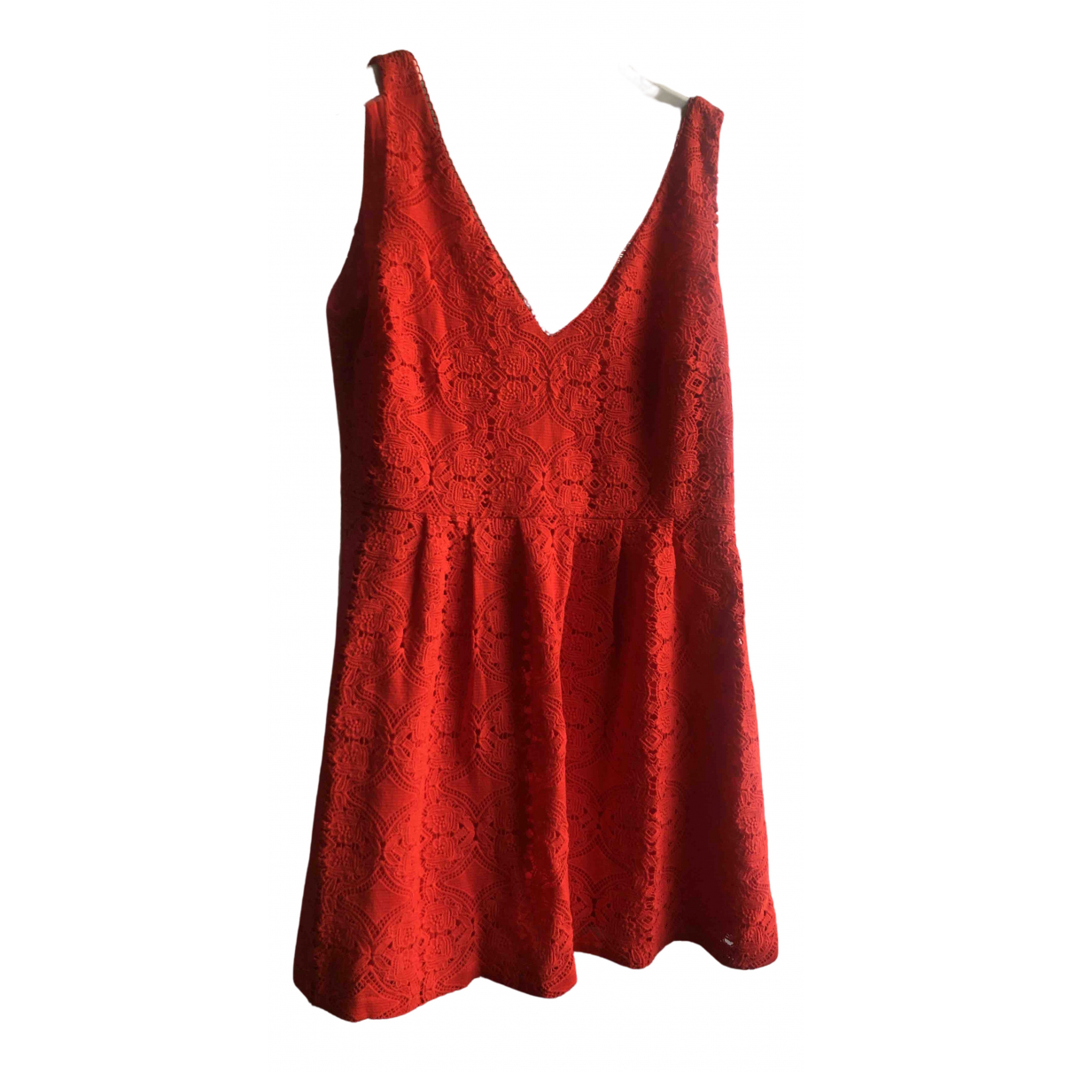 Sézane \N Red Cotton dress for Women 44 FR