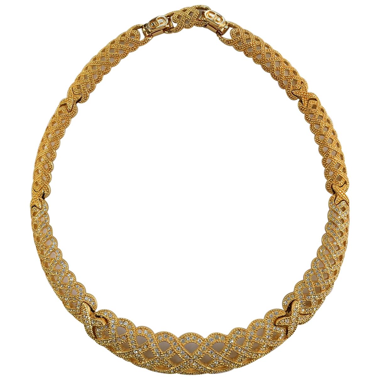 Dior - Collier   pour femme en or jaune - dore