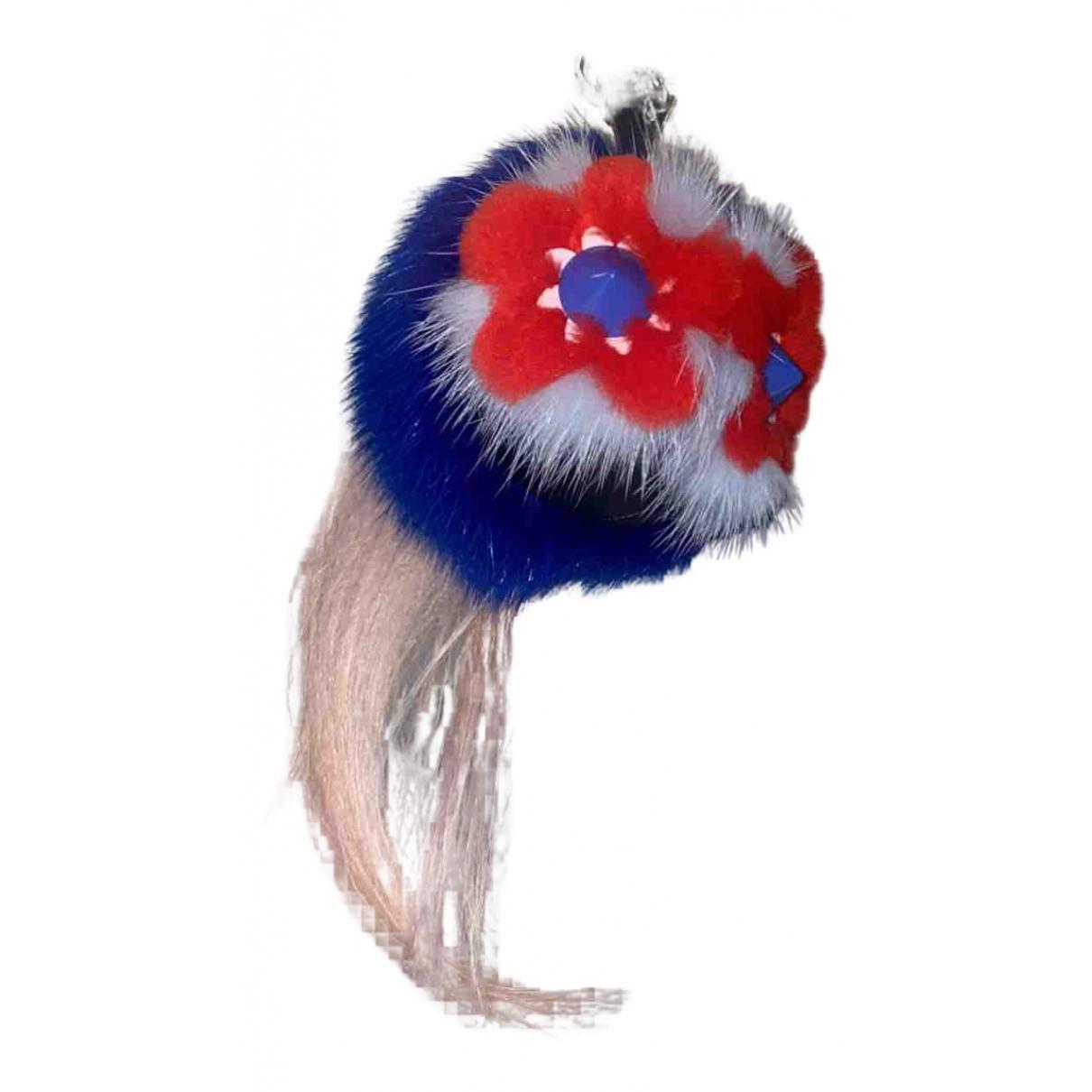 Fendi - Bijoux de sac Bag Bug pour femme en fourrure synthetique - bleu
