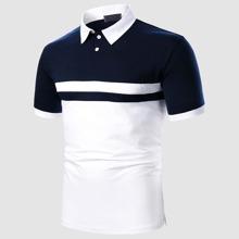 Camisa polo de hombres de dos colores
