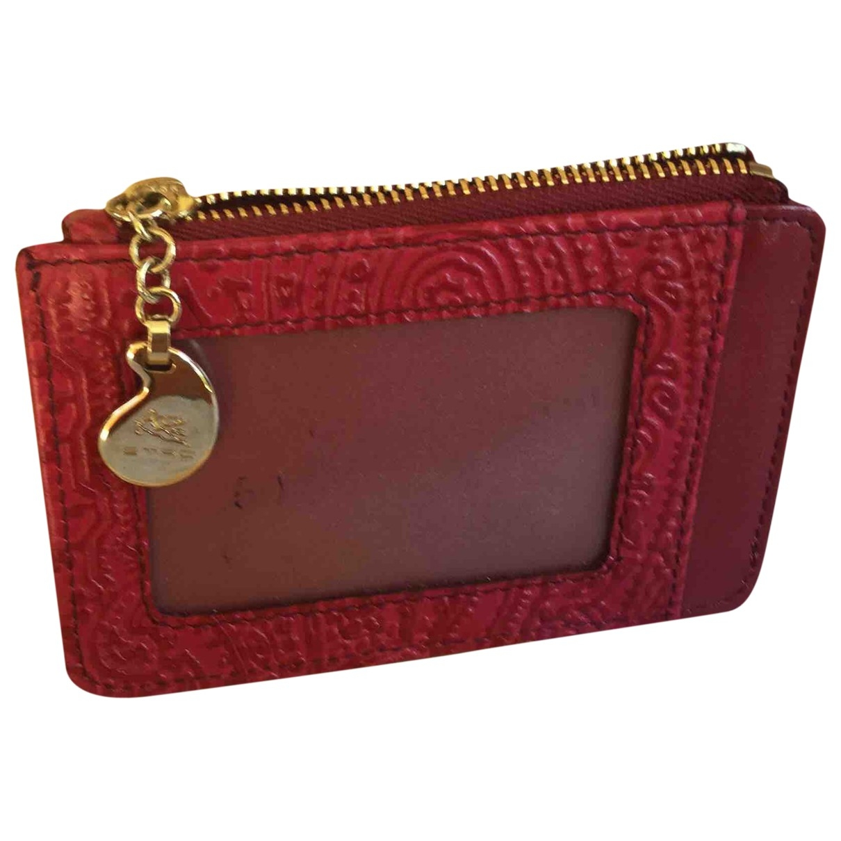 Etro \N Red Leather Purses, wallet & cases for Women \N