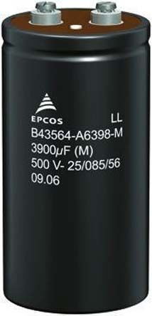 EPCOS 22000μF Electrolytic Capacitor 63V dc, Screw Mount - B41456B8229M000