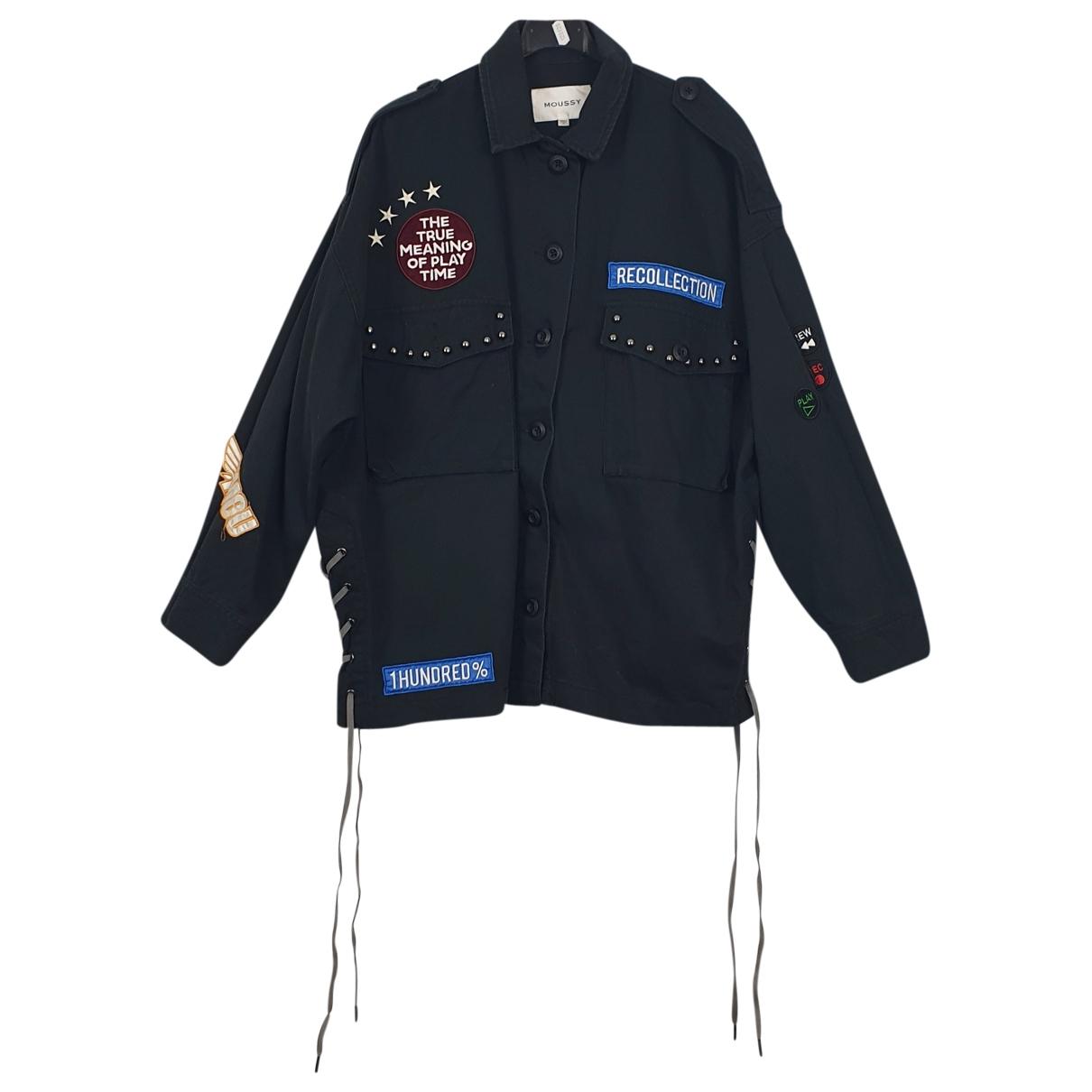 Moussy \N Jacke in  Schwarz Baumwolle