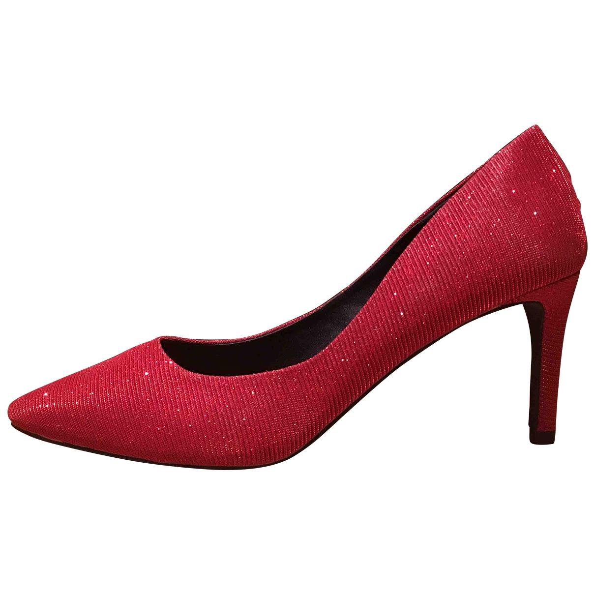 - Escarpins   pour femme en toile - rouge