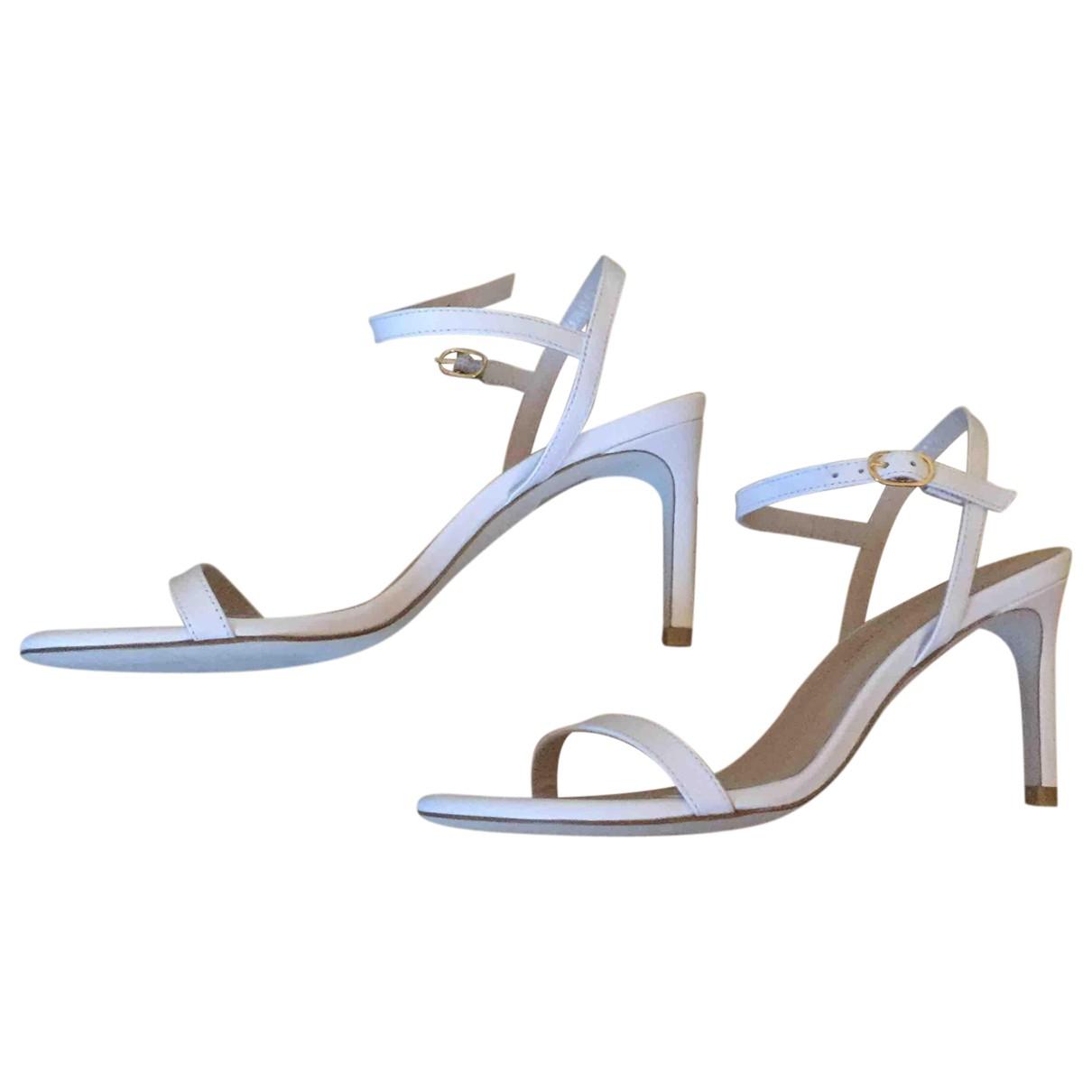 Stuart Weitzman \N White Leather Sandals for Women 36.5 EU