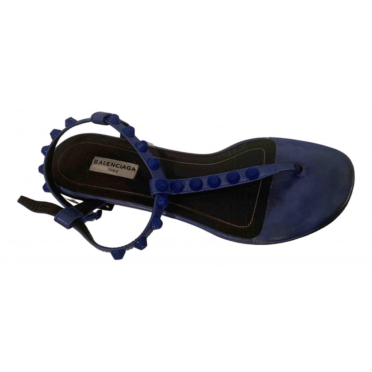 Balenciaga - Sandales   pour femme en cuir - bleu