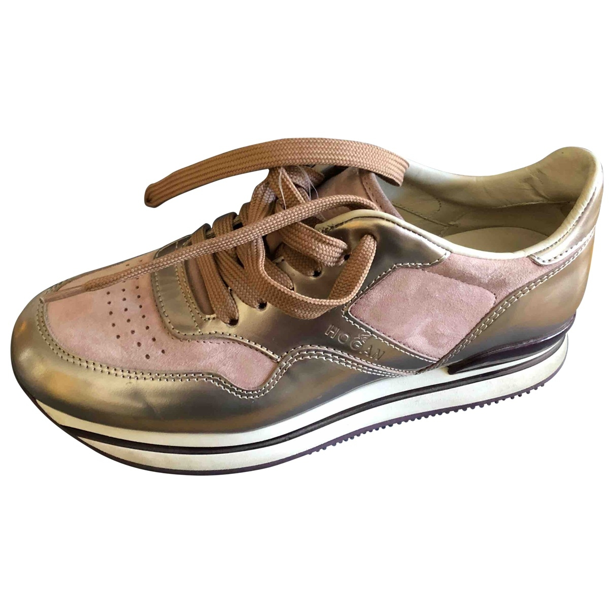 Hogan \N Pink Leather Trainers for Women 36.5 EU