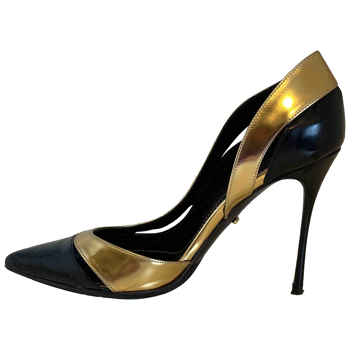 Sergio Rossi \N Pumps in  Schwarz Lackleder