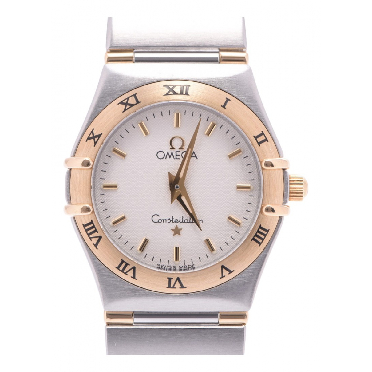 Omega Constellation Silver gold and steel watch for Women N