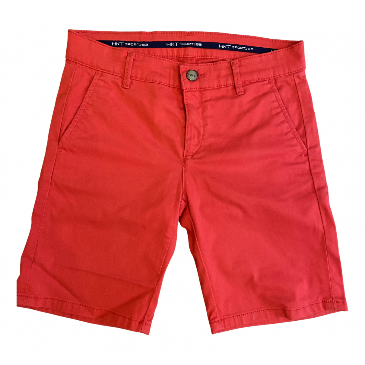 Hackett London \N Red Cotton Shorts for Kids 12 years - XS FR