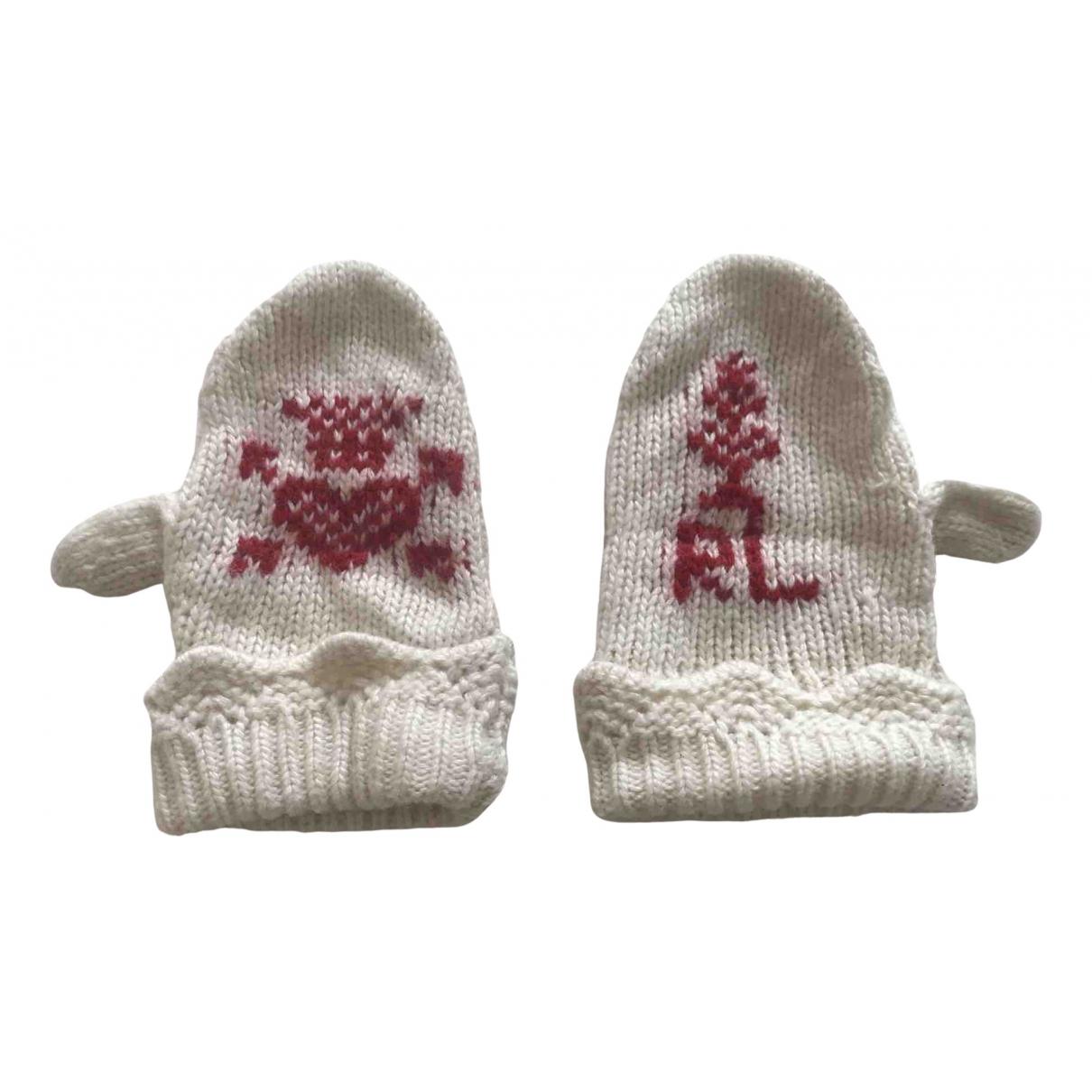 Ralph Lauren - Chapeaux.Bonnets.Gants   pour enfant en laine - ecru