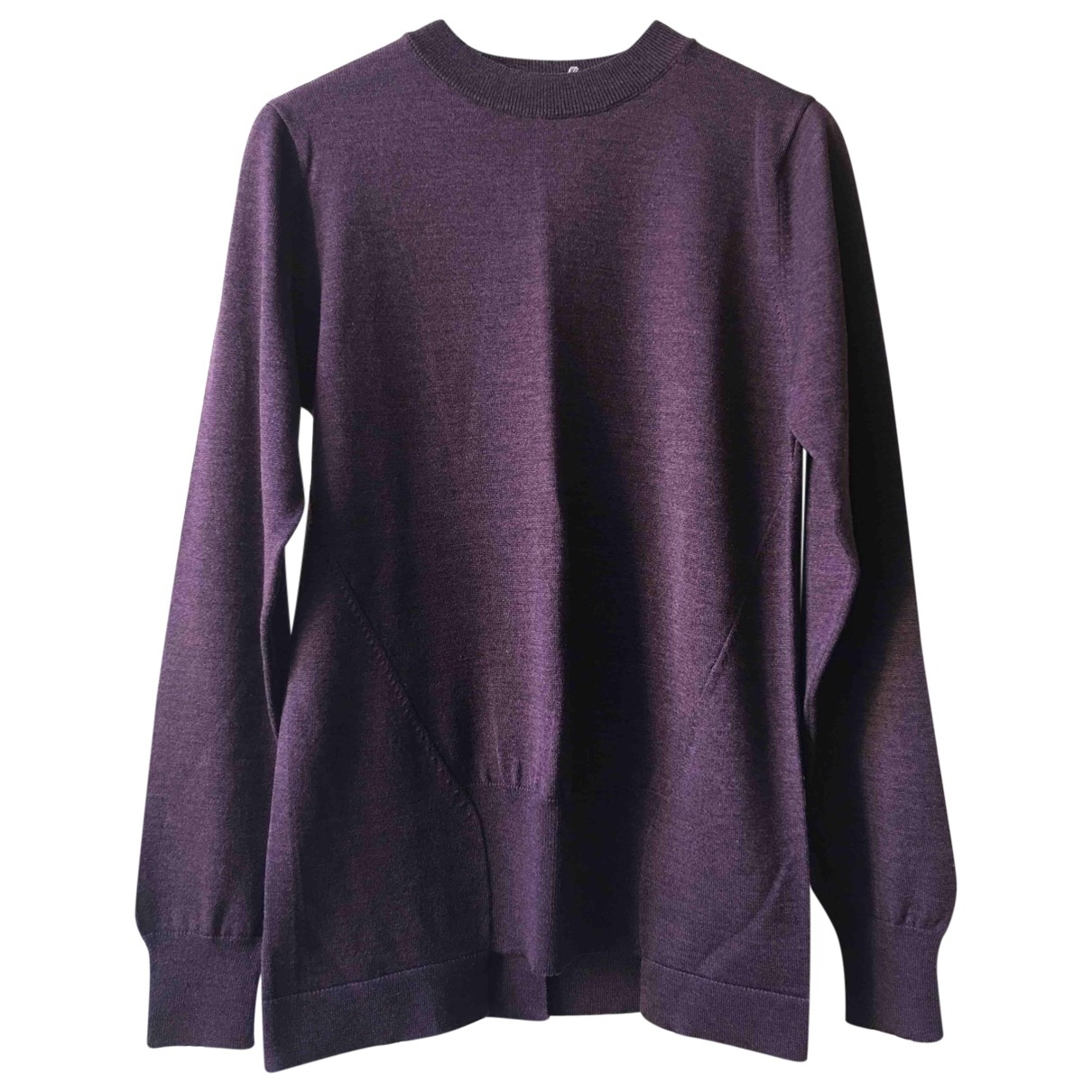 Marni - Pull   pour femme en laine - bordeaux