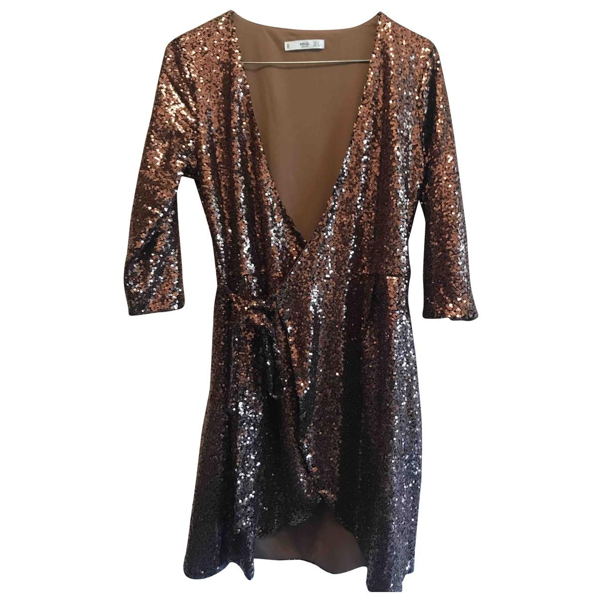 Mango \N Kleid in  Gold Mit Pailletten