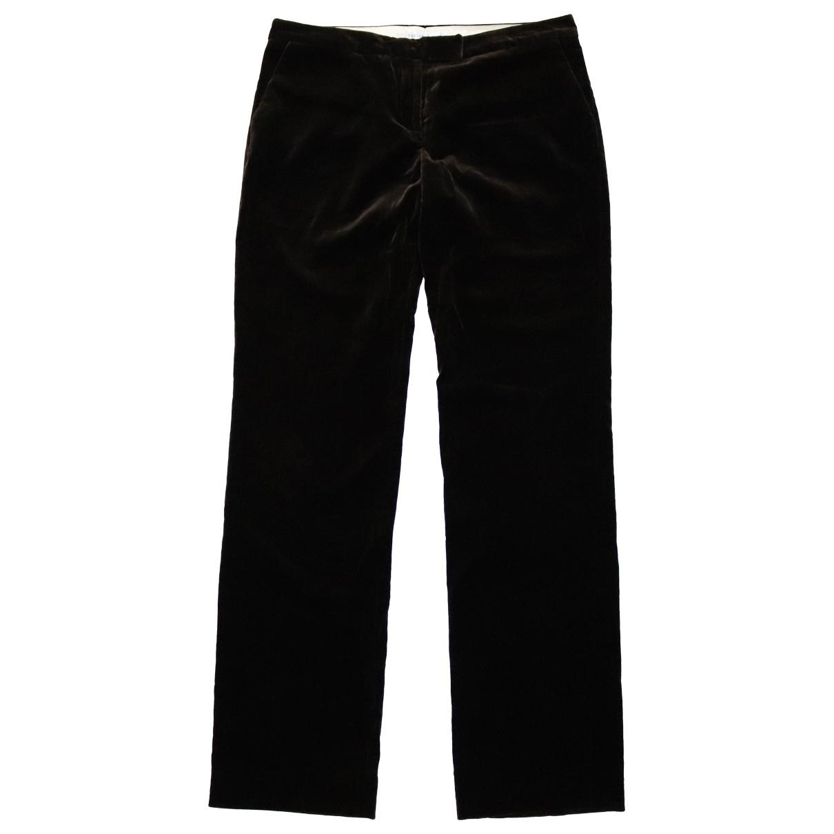 Fabiana Filippi \N Brown Cotton Trousers for Women L International