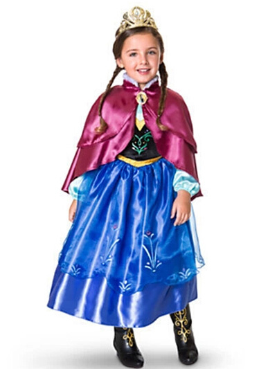 Milanoo Blue Frozen Anna Dress Halloween