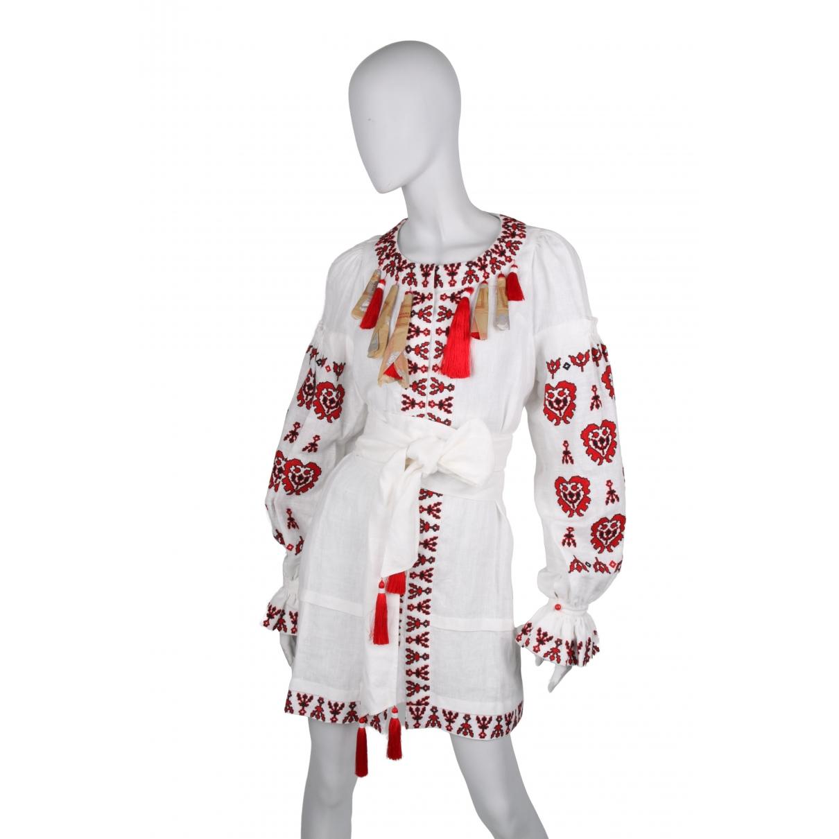 Vestido midi de Lino Yuliya Magdych