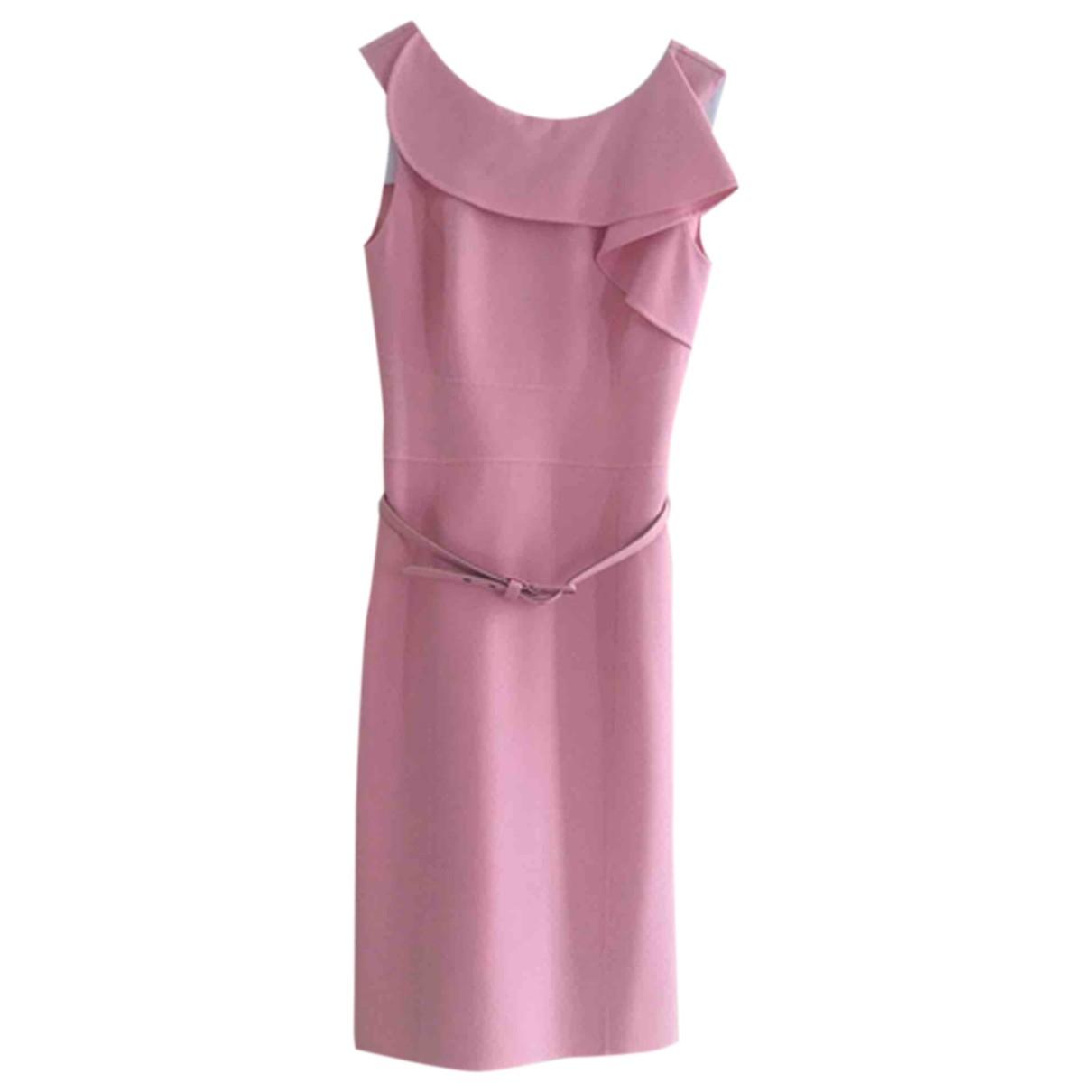 Oscar De La Renta \N Kleid in  Rosa Wolle