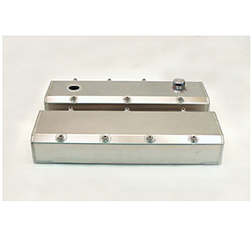 Canton Racing BBC Fabbed Aluminum Valve Covers with Fill & Pcv Ports.