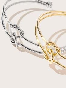 2pcs Knot Cuff Bracelet