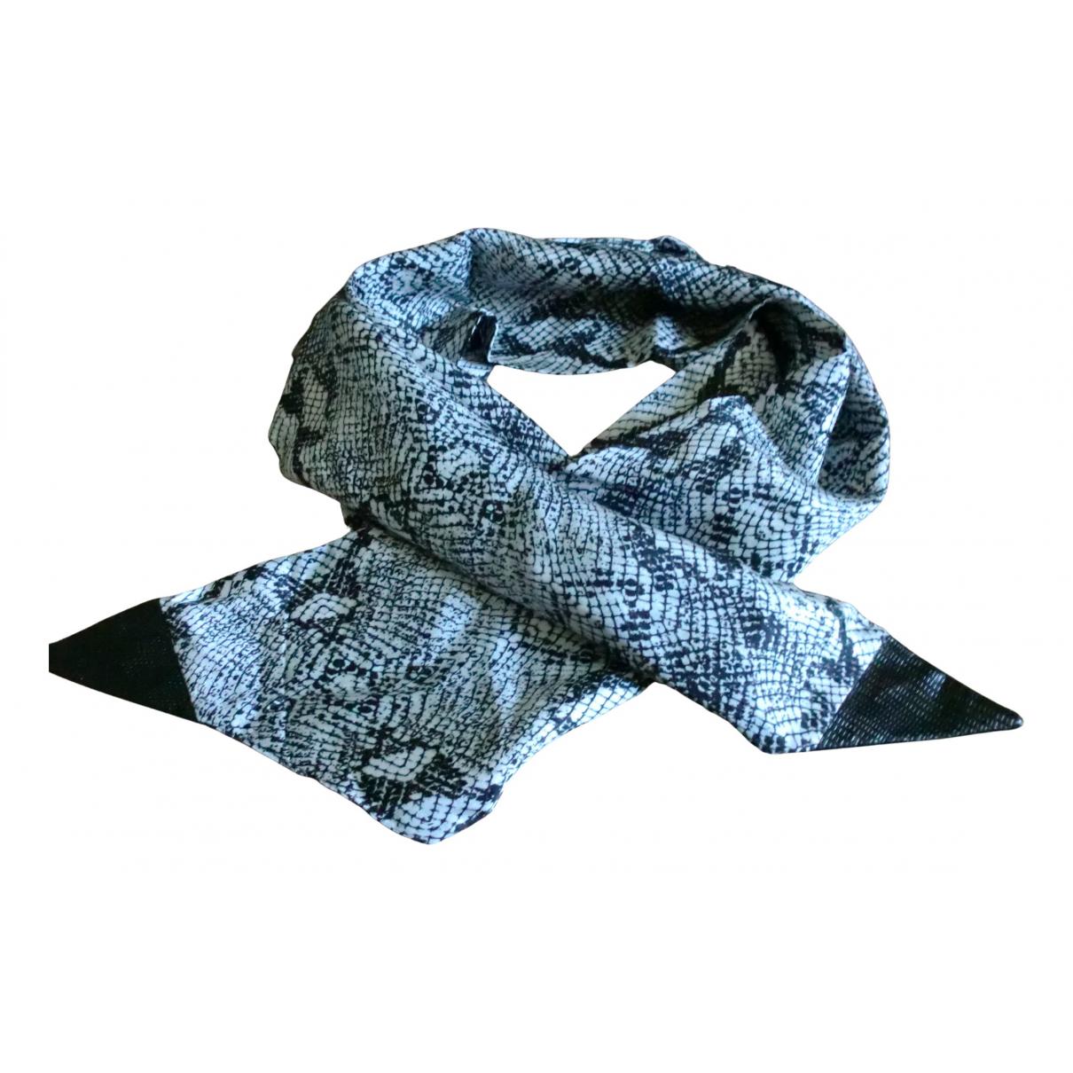The Kooples - Foulard   pour femme en soie - gris