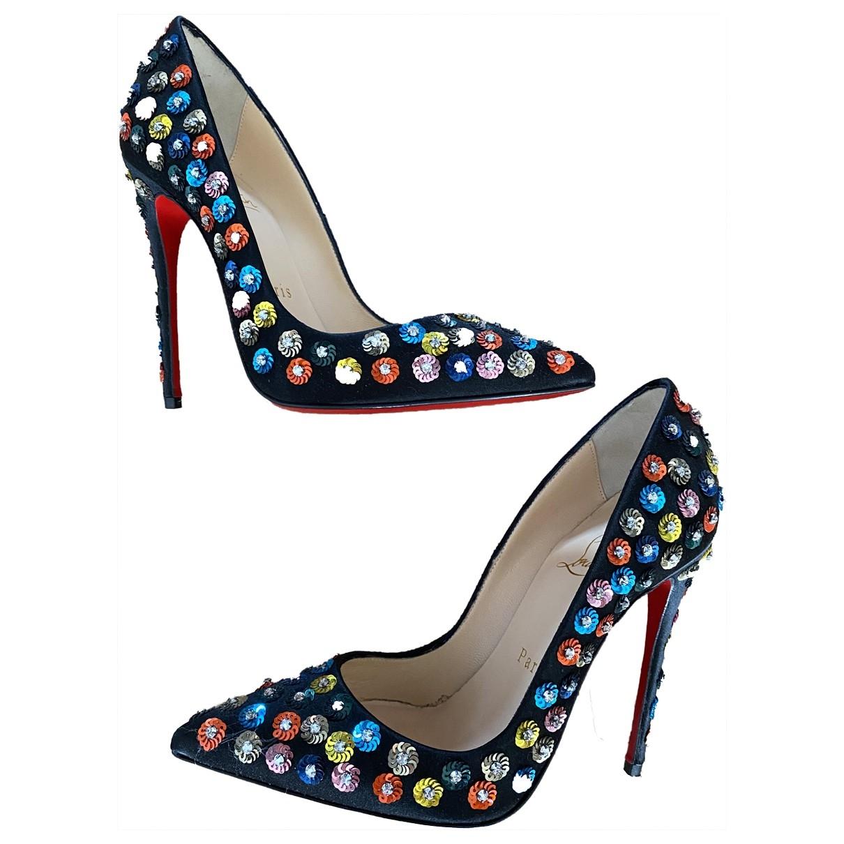 Christian Louboutin - Escarpins So Kate  pour femme en a paillettes - multicolore