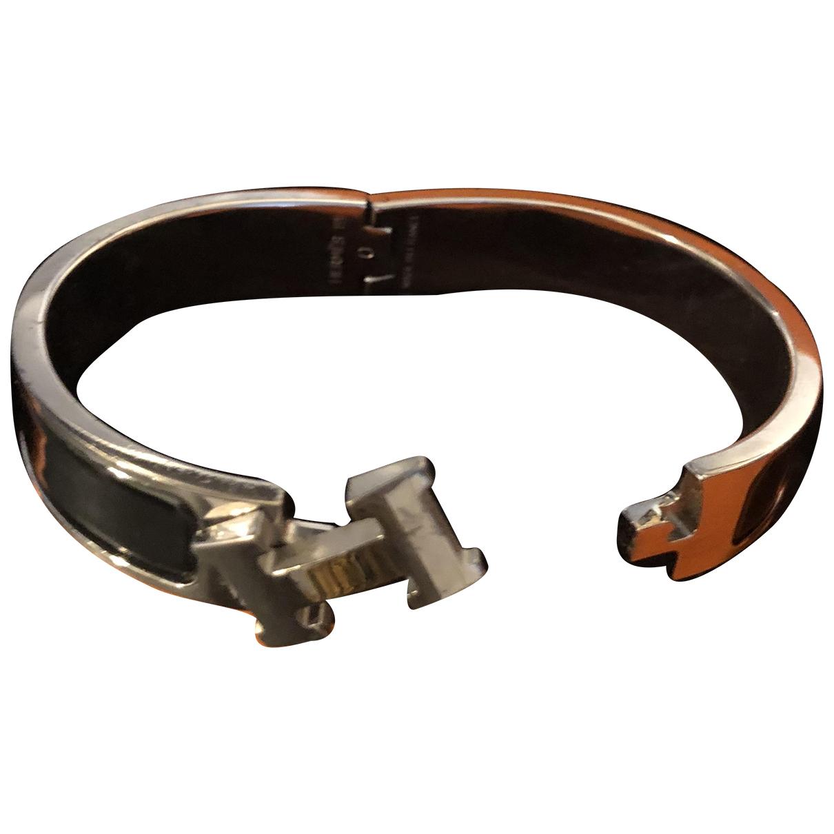Hermès Clic H Black Steel bracelet for Women \N