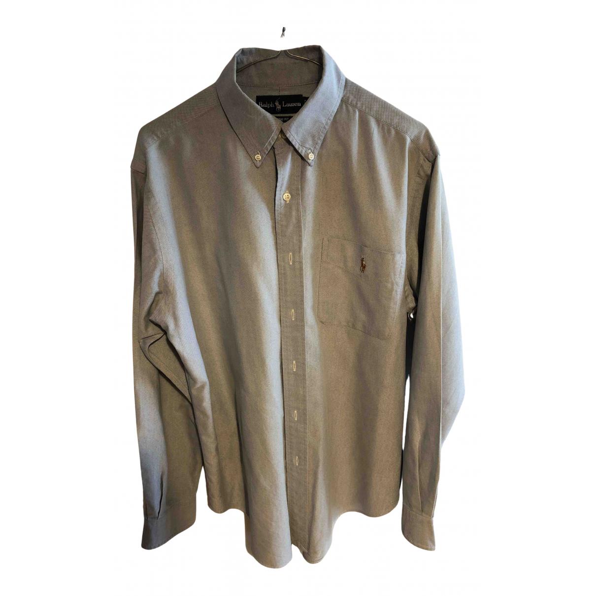 Polo Ralph Lauren N Blue Cotton Shirts for Men M International