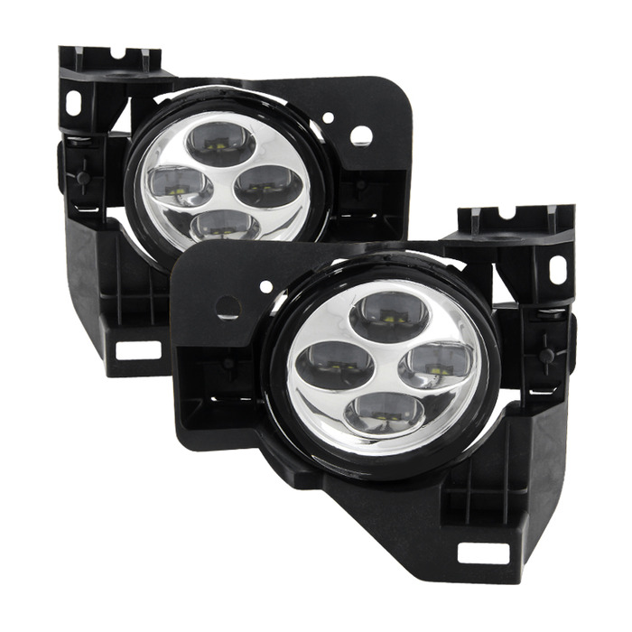 Spyder Auto FL-DRL-NM09-C Daytime DRL LED Running Clear Fog Lights with Switch Nissan Maxima 09-15