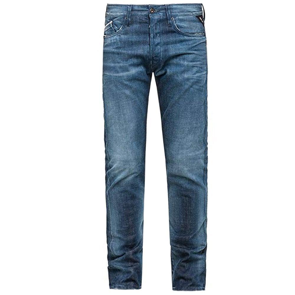 Replay Denimzero Waitom Regular Fit Colour: BLUE, Size: 36 30