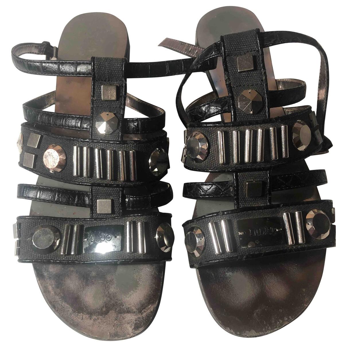 Liu.jo \N Black Leather Sandals for Women 41 IT
