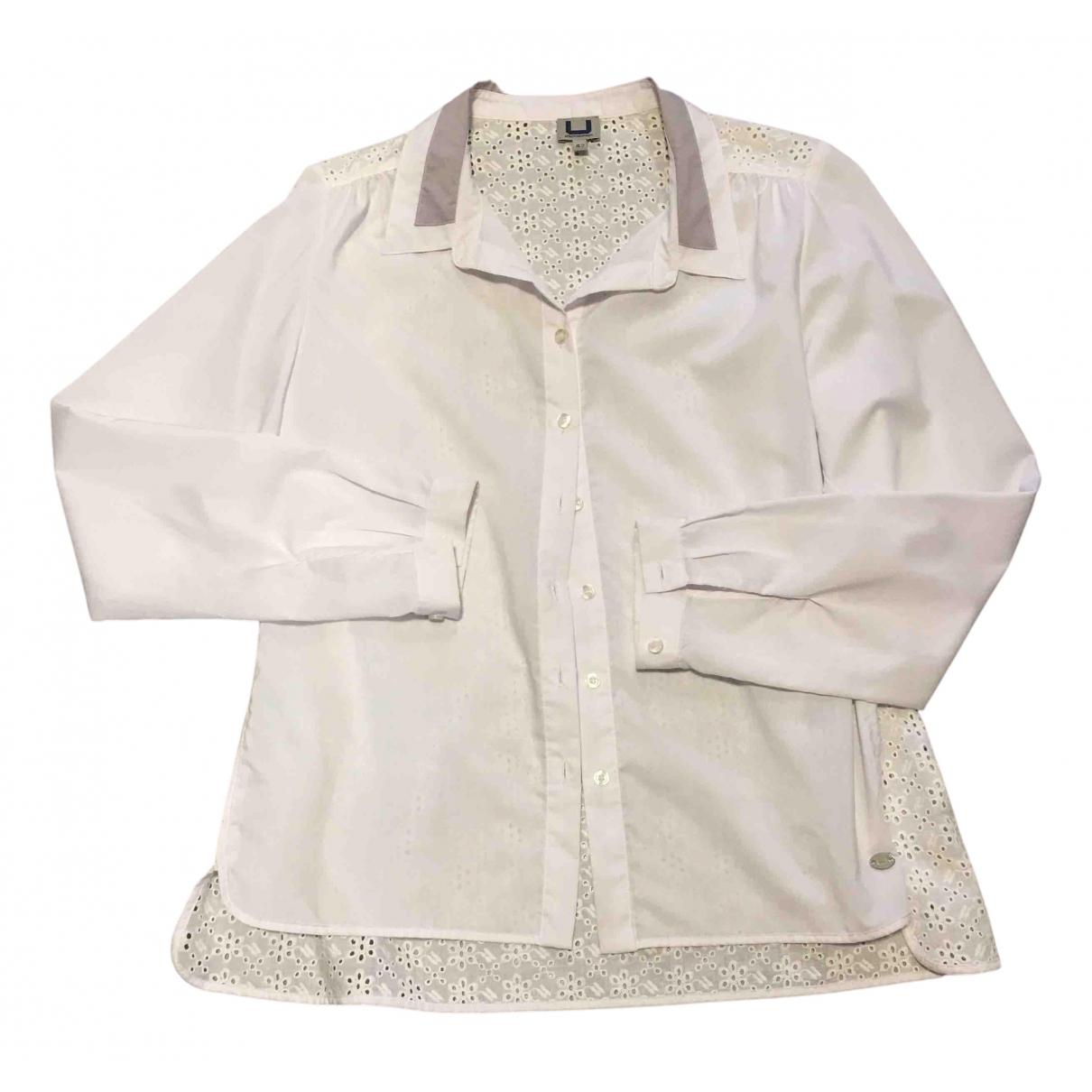 Adolfo Dominguez - Top   pour femme en coton - blanc