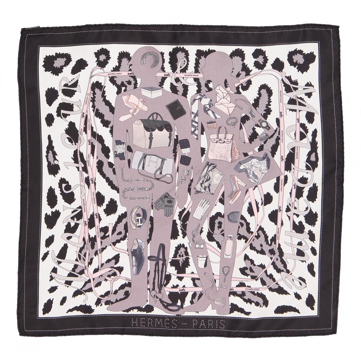 Hermes - Foulard Gavroche 45 pour femme en soie - marron