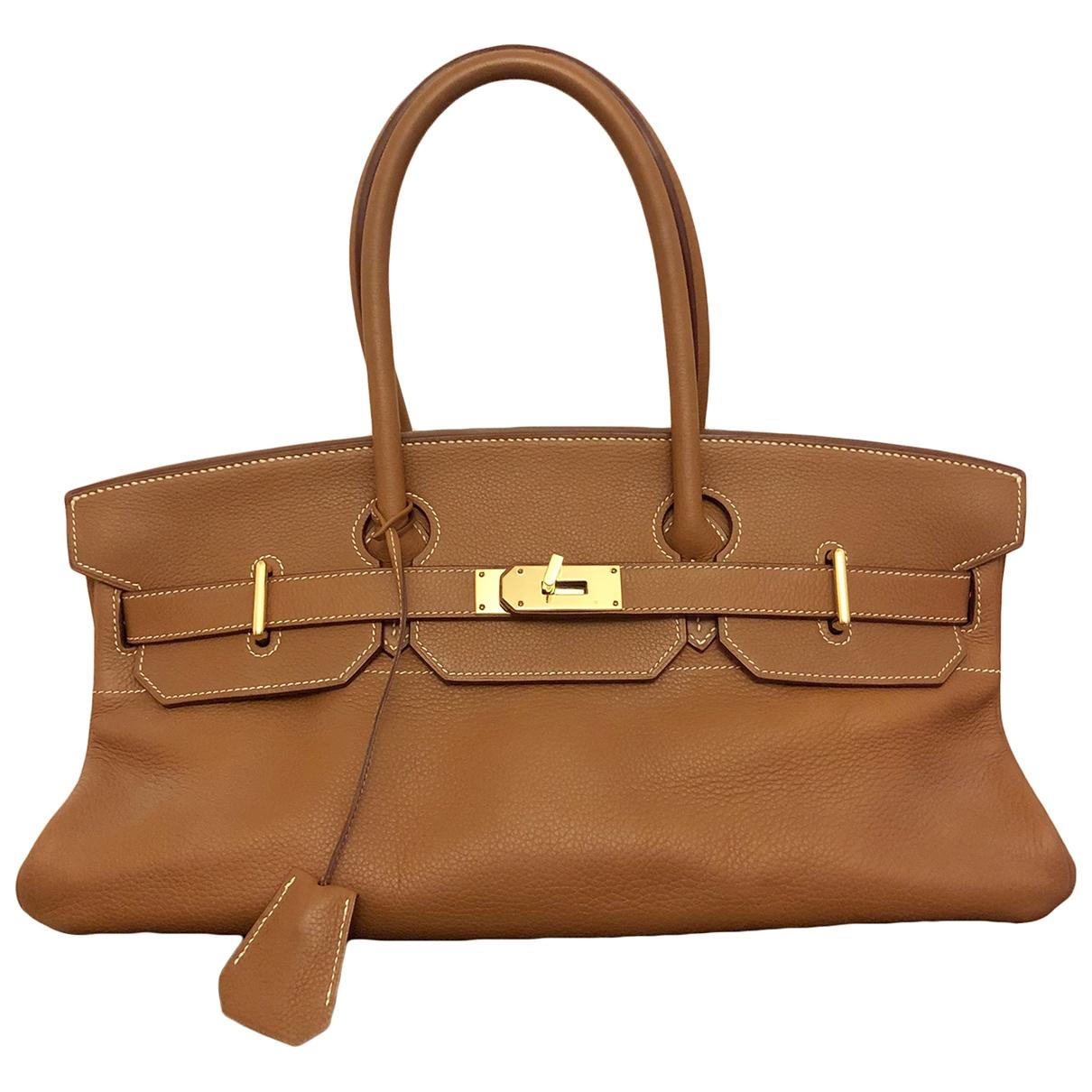 Hermès Birkin Shoulder Gold Leather handbag for Women \N