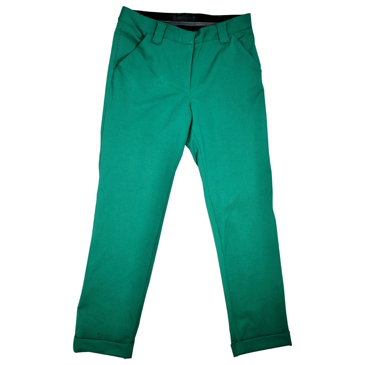 Proenza Schouler \N Green Cotton Trousers for Women 4 US