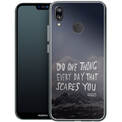 Huawei P20 Lite Silikon Handyhuelle - Scares You von Leah Flores