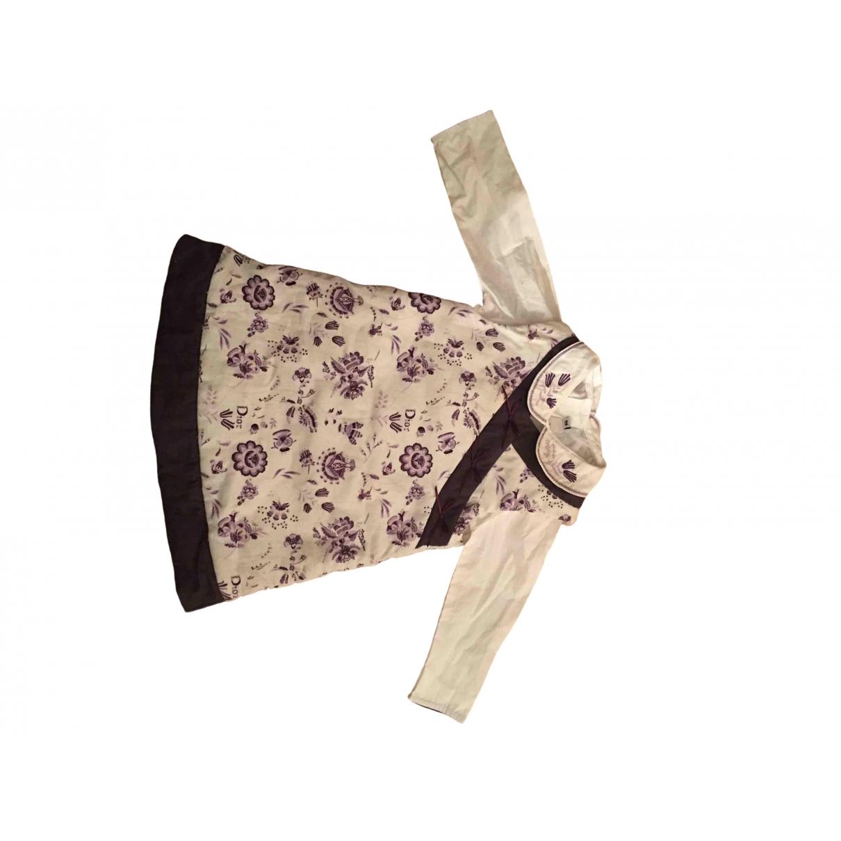 Baby Dior \N Kleid in  Weiss Baumwolle