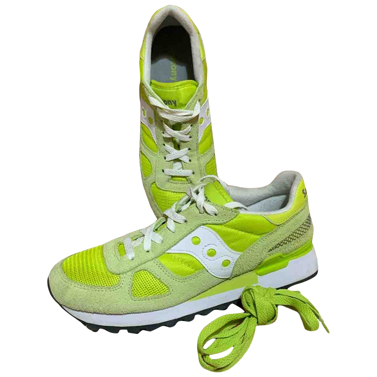 Saucony \N Yellow Cloth Trainers for Women 38.5 EU